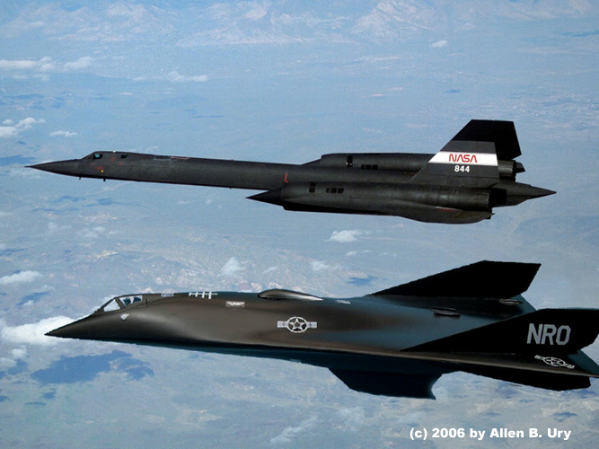 Aurora Hypersonic Spy Plane and SR-71
