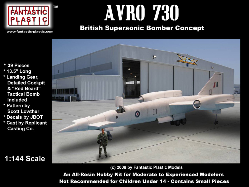 Avro 730 Fantastic Plast Re-Release Box Art