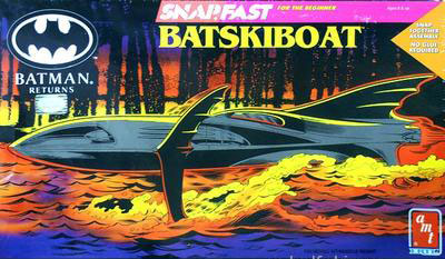 AMT Bat Ski  Boat Box Art