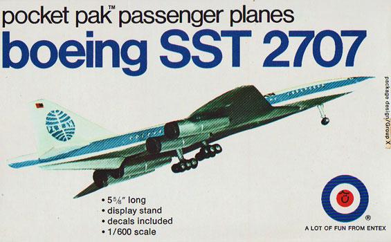 Boeing SST 2707 Entex Box Art