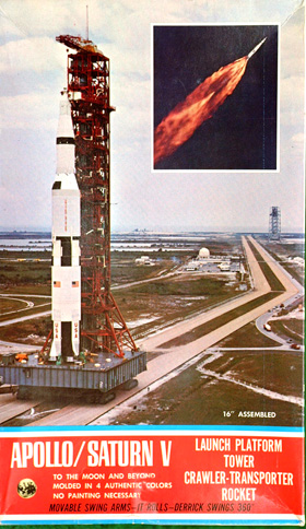 Saturn V with Crawler Cashulette Engineering Box Art