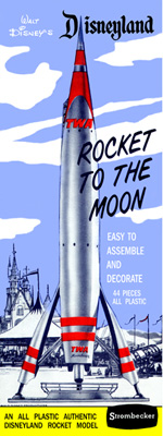 Disneyland Rocket-to-the-Moon - Strombecker - Original Box Art