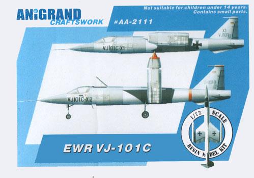 Ouvre boîte Republic XF-103 Thunderwarrior [Anigrand 1/72] EWR-VJ-101C-Box-Art