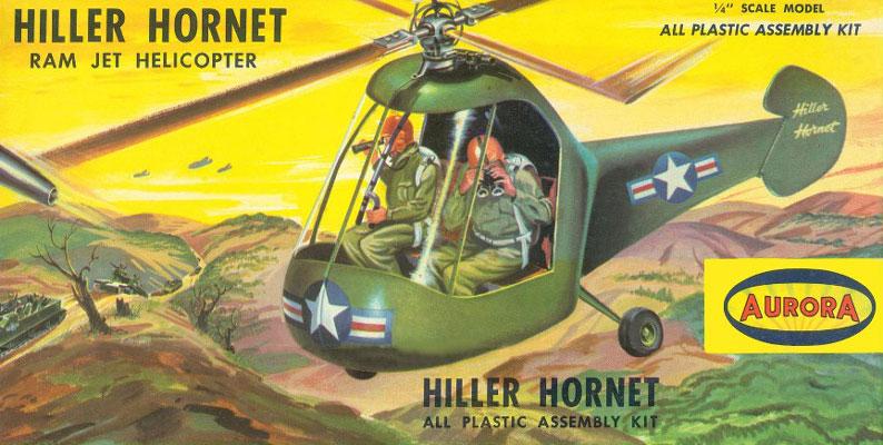 Hiller Hornet 1 10 Model Kit By Aurora