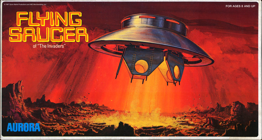 Invaders UFO Box Art - Aurora Re-Release