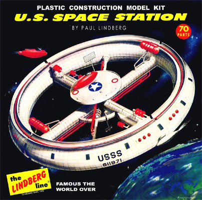 U.S. Space Station - Lindberg - Original Box Art