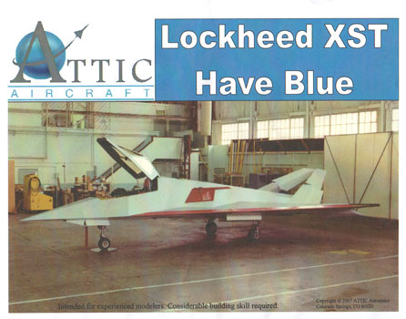 Lockheed Xst Have Blue 1 48 Model Kit By Attic