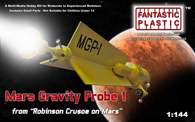 Mars Gravity Probe 1 - Fantastic Plastic Models - Box Art