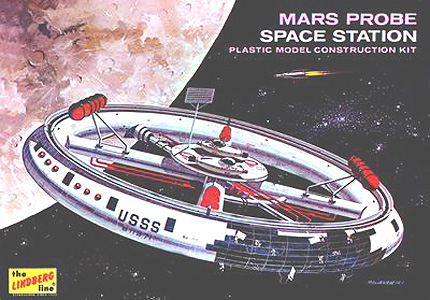 U.S. Space Station - Mars Probe Box Art