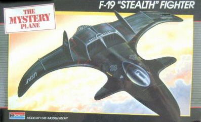 Monogram F-19 Stealth Fighter - Box Art