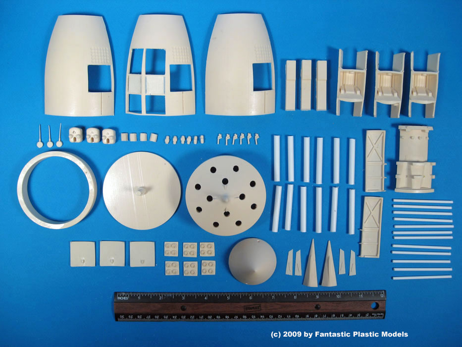 Project Orion Battleship - Fantastic Plastic - What You Get