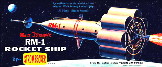 Disney RM-1 Moon Rocket - Strombecker - Original Box Art