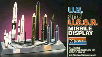 Monogram U.S. and U.S.S.R. Missiles - Original Box Art