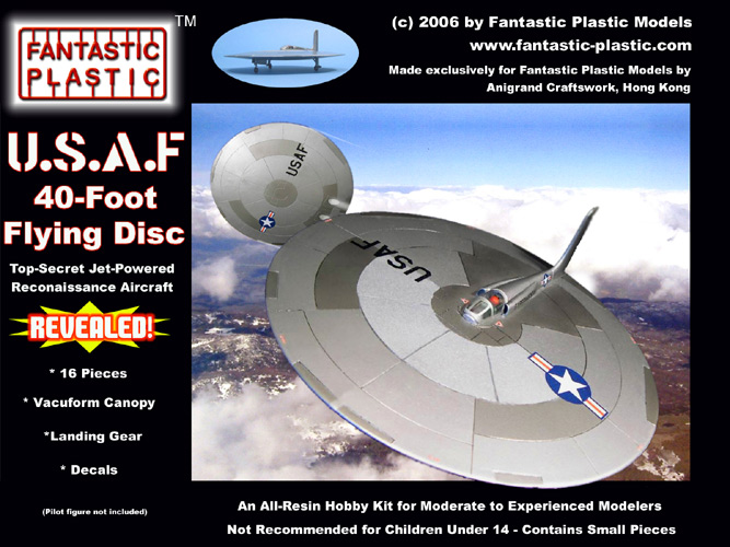 USAF 40-Foot Flying Disc - Box Art