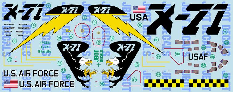 X-71 Shuttle 1:144 Resin Model Kit by Fantastic Plastic