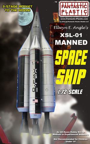 XSL-01 Moon Rocket 1:72 Model Kit by Fantastic Plastic
