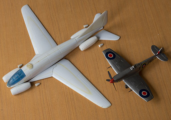 Messerschmit Me.P.1101/101 and Hawker Hurricane
