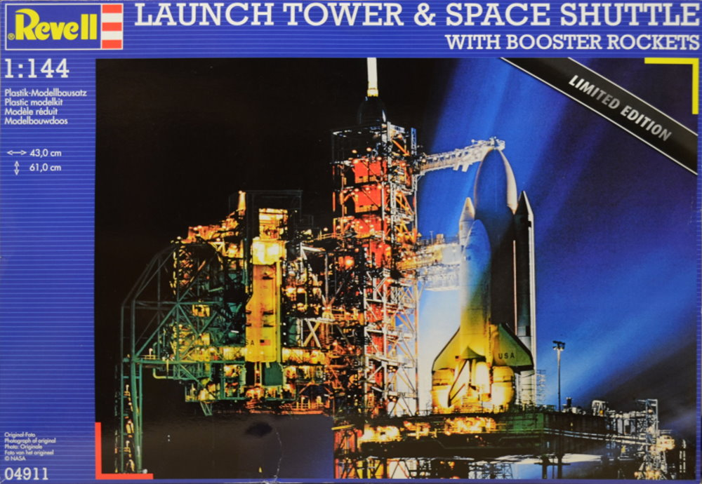 U S  Space Shuttle and Launch Tower by Revell - Fantastic