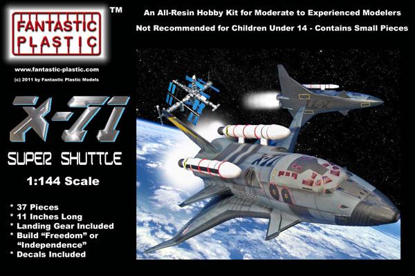 X-71 Super Shuttle 1:144 Resin Model Kit by Fantastic ...
