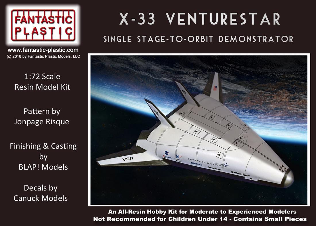 Lockheed-Martin X-33 Venturestar SSTO 1:72 Resin Model Kit ...